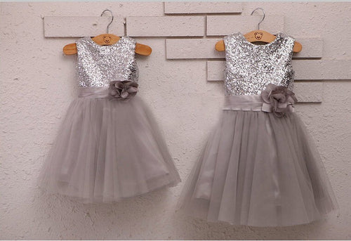 Copy of Sleeveless White A-line Tulle Lace Flower Girl Dress with Bow Tie