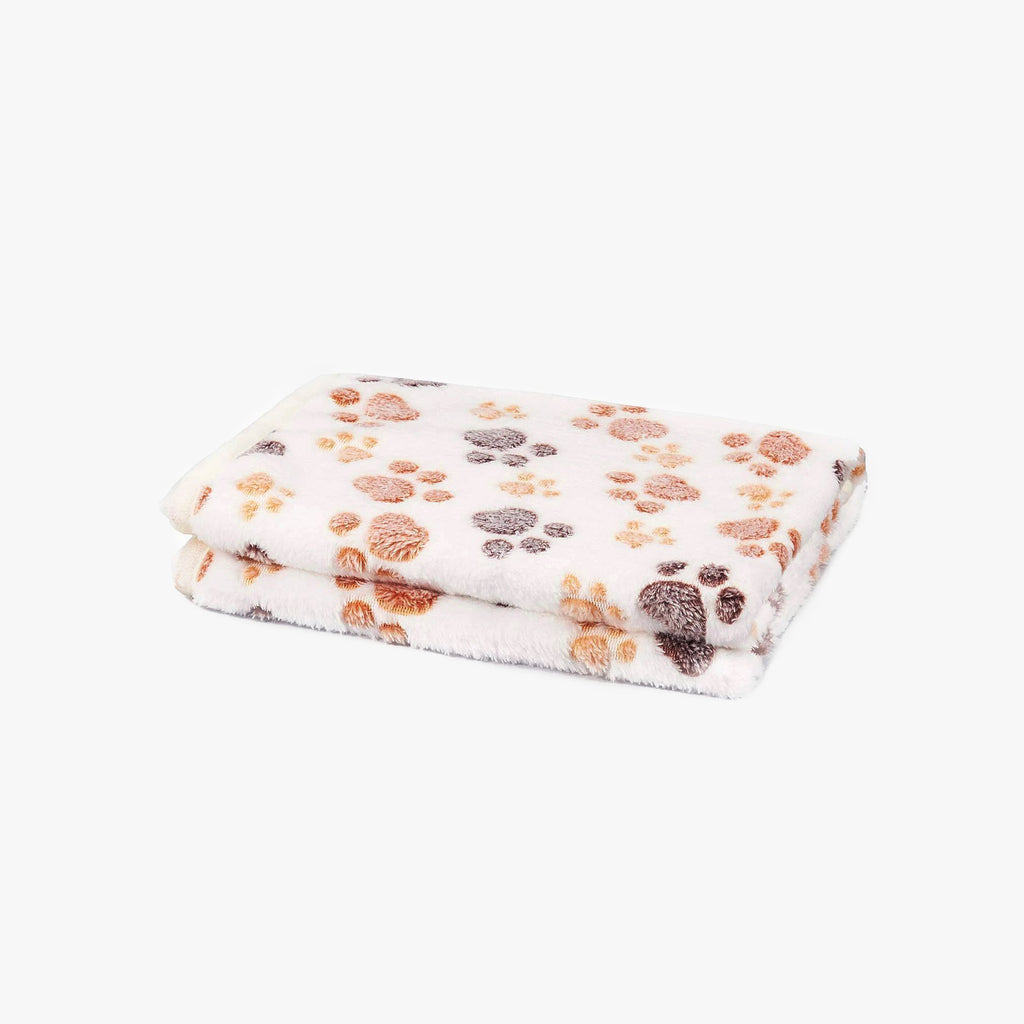 CattyBox Fluffy Paw Print Cat Blanket