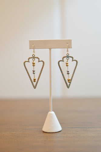 Sagittarius Earrings - Gold and Silver