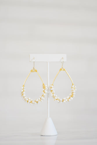 Mini Calypso Earrings - White
