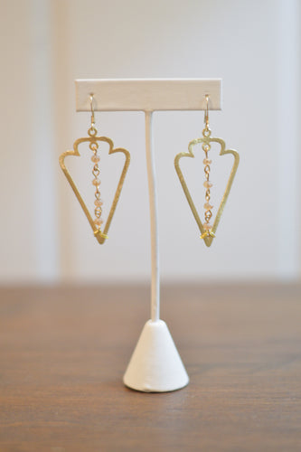 Sagittarius Earrings - Champagne
