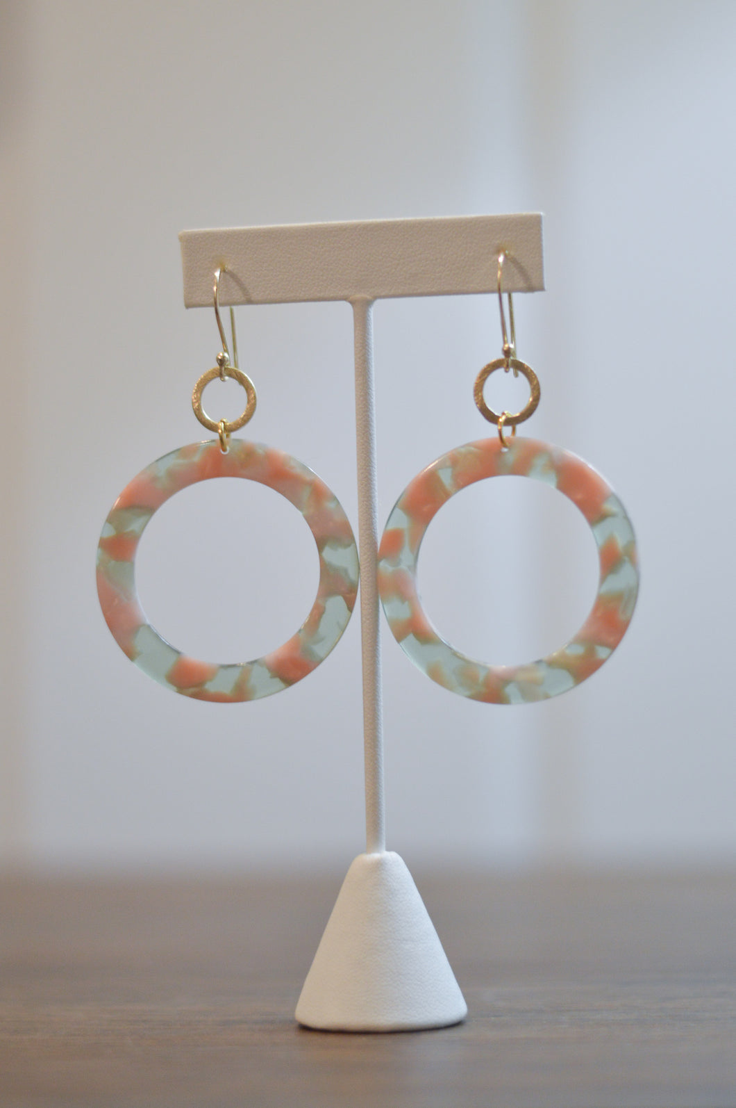 Lunar Eclipse Earrings - Blush & Sage