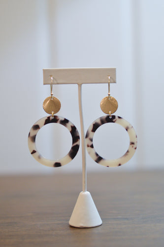 Lunar Eclipse Earrings - Taupe & Black