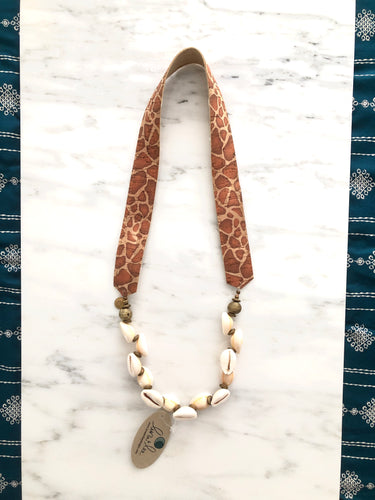 Saturn Cowrie Shell Necklace