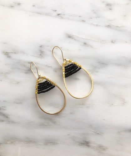 Mini Stardust Earrings - Black