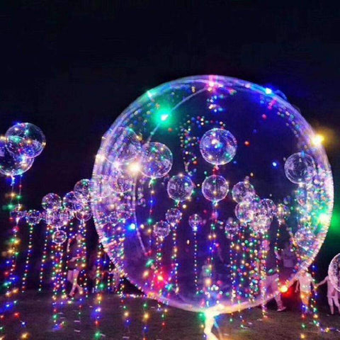 10Pcs Luminous Led Colorful  Balloon