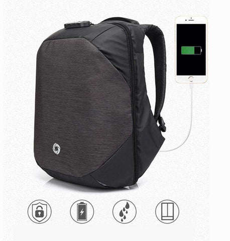 Locking Backpack with USB Charger