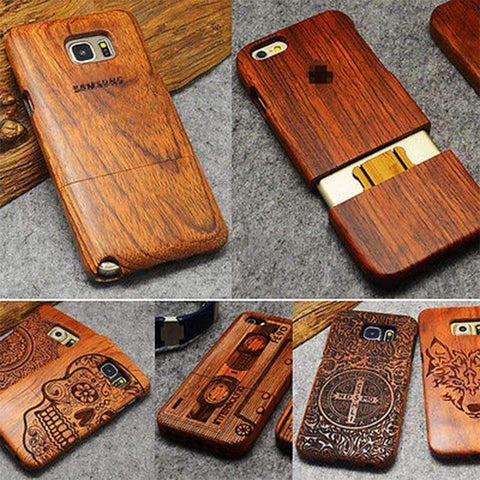 100% Natural Wood Case Cover For Note 8