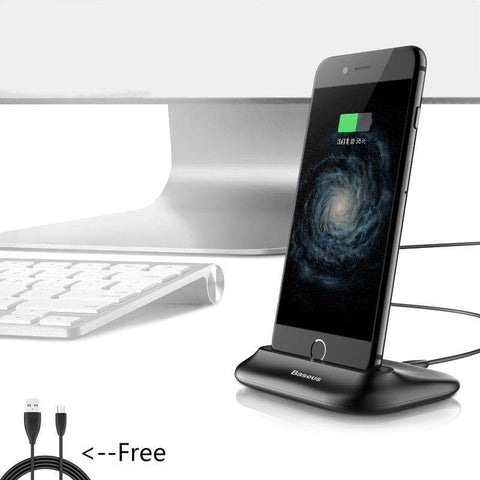 Desktop Docking Charger for iPhone Data Sync Charging Holder Stand