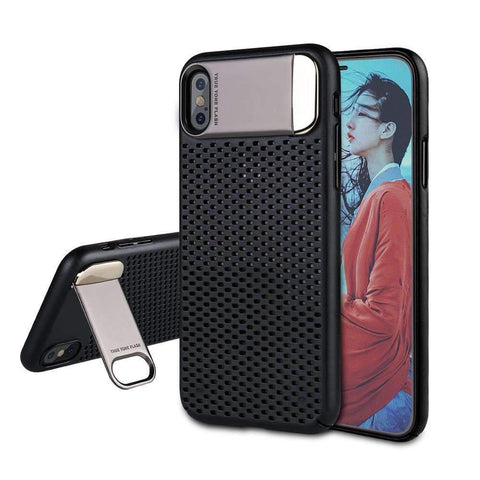Iphone X Luxury Hard Case With Plating Stand