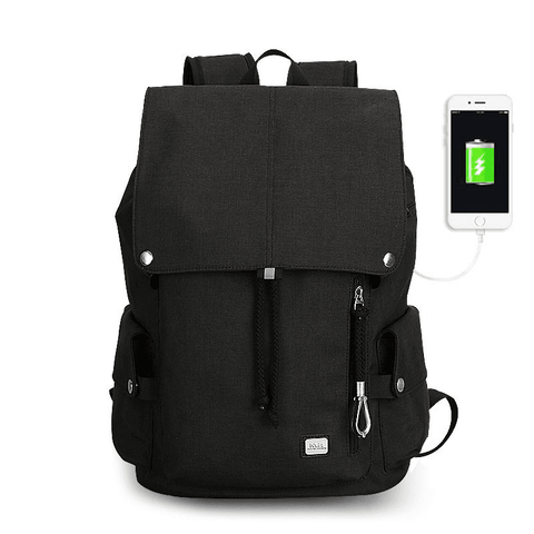 Stylish Backpack with USB Charger