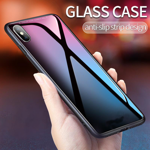 Ultra Slim Iphone X Tempered Glass Case