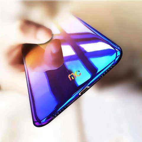 Luxury Colorful Gradient Plating Hard PC Case for iPhone X