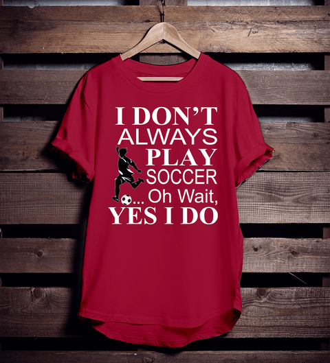I love to play soccer