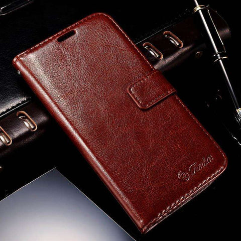 Apple iPhone 7 Flip Genuine Leather Cover Case with Card Holders