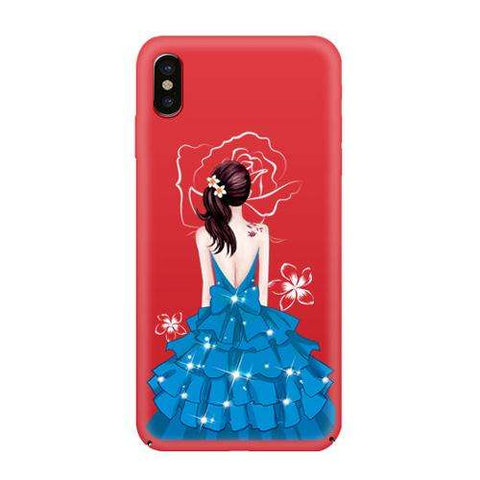ultra thin back slim painting princess case