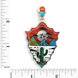 Native American Navajo Multi Stone Inlay Pendant, #51