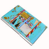 Native American Navajo Multi Stone Inlay Card Holder, #01