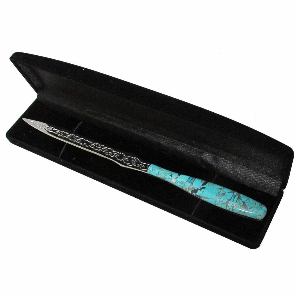Native American Navajo Multi Stone Inlay Letter Opener, #1-1