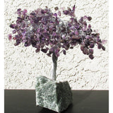 Gemstone & Wire Tree, Amethyst, 8""