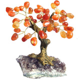 Gemstone Bonsai Tree, Carnelian, 7""