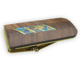 Money Clip, Native American, Wood with Gemstone Inlay