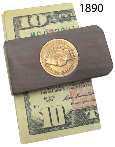 Money Clip, Native American, Indian Head Penny 1890-1905