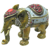 Circus Elephant Jeweled Trinket Box with Austrian Crystals, #3