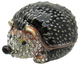 Hedgehog Jeweled Trinket Box with Austrian Crystals
