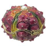 Sea Urchin Jeweled Trinket Box with SWAROVSKI Crystals, Purple