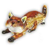 Fox Jeweled Trinket Box with SWAROVSKI Crystals