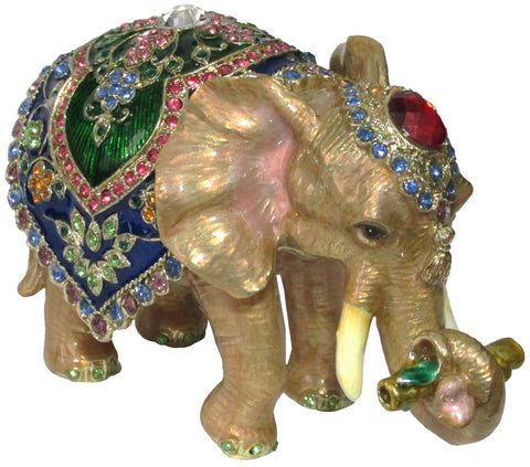Elephant (Circus) Jeweled Trinket Box with SWAROVSKI Crystals