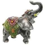 Circus Elephant Jeweled Trinket Box with Austrian Crystals