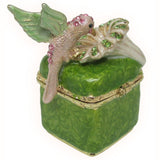 Hummingbird Jeweled Trinket Box with SWAROVSKI Crystals