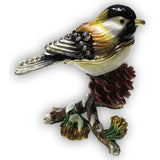 Chickadee Jeweled Trinket Box with SWAROVSKI Crystals