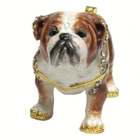 Bulldog Jeweled Trinket Box with SWAROVSKI Crystals