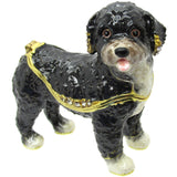 Portuguese Water Dog Jeweled Trinket Box with SWAROVSKI Crystals