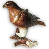 Hawk, Red-tailed, Jeweled Trinket Box with SWAROVSKI Crystals
