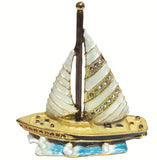 Sailboat Jeweled Trinket Box with SWAROVSKI Crystals