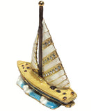 Sailboat Jeweled Trinket Box with SWAROVSKI Crystals, #2