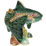 Trout Jeweled Trinket Box with SWAROVSKI Crystals