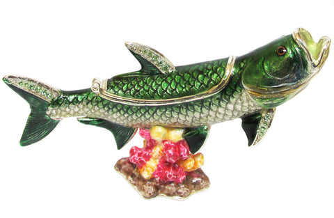 Fish (Tarpon) Jeweled Trinket Box with SWAROVSKI Crystals