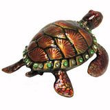 Sea Turtle Jeweled Trinket Box with Austrian Crystals, #2