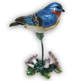 Bluebird Jeweled Trinket Box with SWAROVSKI Crystals
