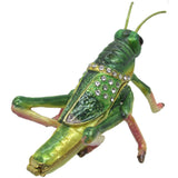 Grasshopper Jeweled Trinket Box with SWAROVSKI Crystals