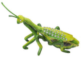 Praying Mantis Jeweled Trinket Box with SWAROVSKI Crystals