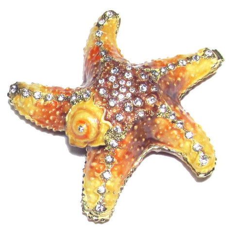 Starfish Jeweled Trinket Box with SWAROVSKI Crystals