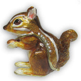 Chipmunk Jeweled Trinket Box with SWAROVSKI Crystals