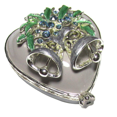 Heart Mini Jeweled Trinket Box with SWAROVSKI Crystals