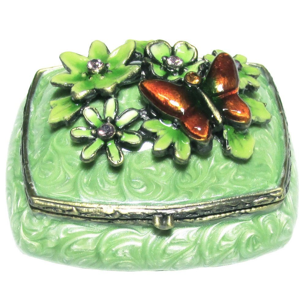 Mini Butterfly Jeweled Trinket Box with SWAROVSKI Crystals